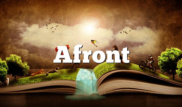 Afront